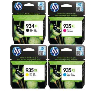 סט 4 ראשי דיו מקוריים HP 934XL + HP 935XL