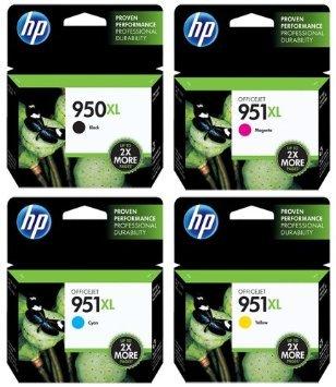 סט 4 ראשי דיו מקוריים HP 950XL + HP 951XL